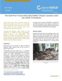 2020 -  The Gold Price Trend within GOLD-ISMIA's Project Locations amid the COVID-19 Pandemic