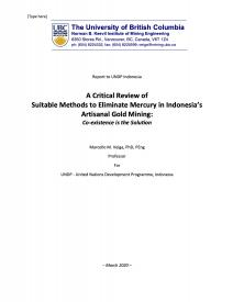 A Critical Review of  Suitable Methods to Eliminate Mercury in Indonesia's